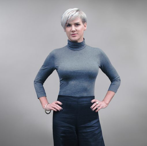 Harrogate Polo Neck Grey Marl