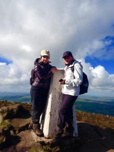Us at summit of Shutlingsloe